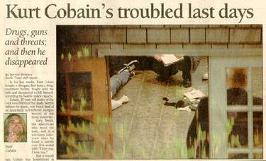 Kurt-Cobain newspaper