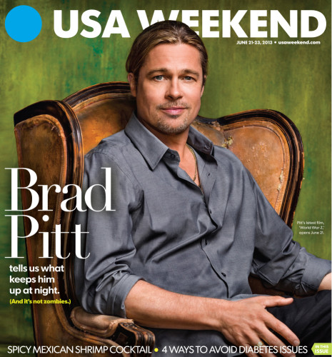 The Changing Magazine Covers Of Brad Pitt