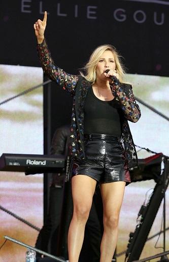 Ellie Goulding rocks out at the 2015 V Festival **USA ONLY**