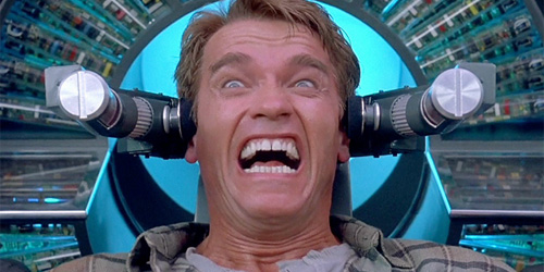 arnie scream total recall